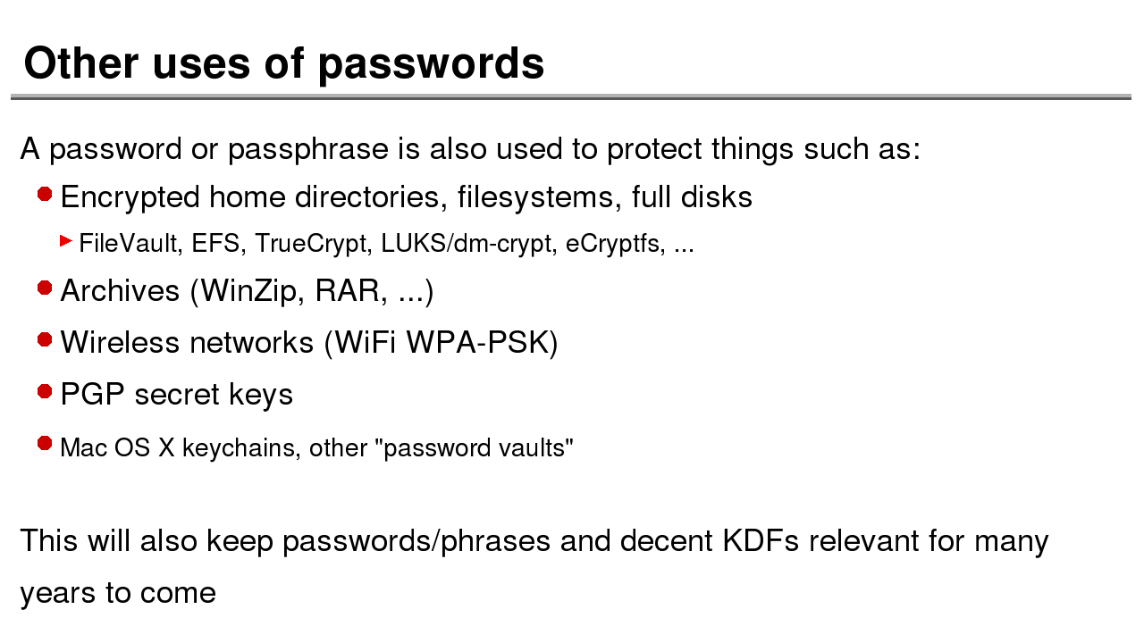 the history of password security